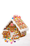 Casa de pan de jengibre del día de fiesta de invierno Fotografía de archivo libre de regalías
