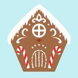 Casa de pan de jengibre, ejemplo del vector fotografía de archivo libre de regalías