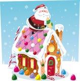 Casa de pan de jengibre del edificio de Papá Noel Fotos de archivo libres de regalías