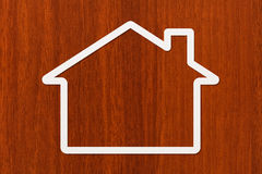 Casa de papel con el copyspace Vivienda, concepto de familia Imagen conceptual abstracta Foto de archivo libre de regalías