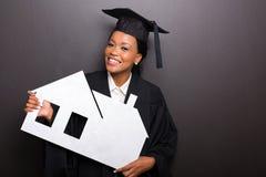 Casa de papel que se sostiene graduada Imagen de archivo