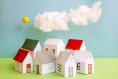 Casa de Papercraft Fotos de Stock