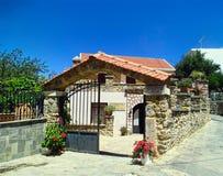 Casa de pedra na cidade velha de Spili em Grécia Museu popular Imagem de Stock Royalty Free