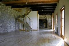 Casa de pedra renovada fotografia de stock royalty free