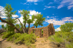 Casa de pedra velha na região selvagem Imagens de Stock
