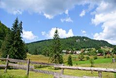 Casa de Piatra Village, Roumanie Photo stock