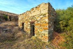 Casa de piedra escudada Fotos de archivo