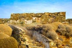 Casa de piedra escudada Fotos de archivo libres de regalías