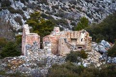 Casa de piedra escudada Foto de archivo libre de regalías