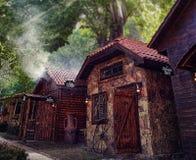 Casa de piedra tradicional del artesano Imagen de archivo