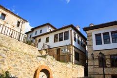 Casa de piedra tradicional en Kastoria (Makedonia, Gree Imagen de archivo