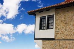 Casa de piedra tradicional en Kastoria (Makedonia, Gree Imagen de archivo libre de regalías