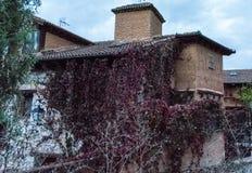 Casa de piedra tradicional típica en la montaña fotografía de archivo libre de regalías