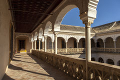 CASA DE PILATOS宫殿在塞维利亚 免版税库存照片