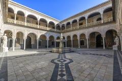 Casa de Pilatos i Seville, i Andalusia spännvidd Royaltyfri Foto