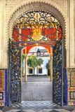 Casa de Pilatos i Seville, i Andalusia spännvidd Arkivbild