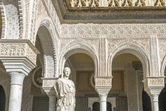 Casa de Pilatos i Seville, i Andalusia spännvidd Royaltyfria Bilder