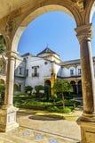 Casa de Pilatos i Seville, i Andalusia spännvidd Arkivfoto