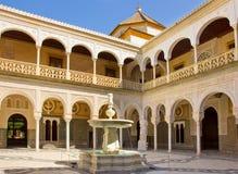 Casa de Pilatos, Seville, Andalusia, Spanien royaltyfri fotografi
