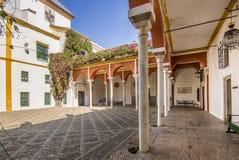 Casa de Pilatos slott i Sevilla, Spanien royaltyfri fotografi