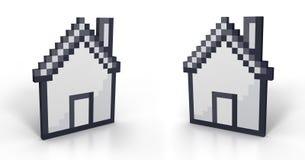 Casa de Pixelated en perspectiva Imágenes de archivo libres de regalías