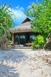 Casa de planta baja de la playa Fotos de archivo libres de regalías
