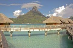 Casa de planta baja de Overwater en Bora Bora Fotos de archivo libres de regalías