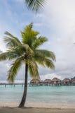 Casa de planta baja del overwater de Bora Bora Tahiti Fotografía de archivo libre de regalías