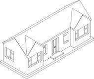 casa de planta baja isométrica 3d ilustración del vector