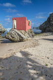 Casa de playa arruinada Bathsheba Barbados Fotos de archivo libres de regalías