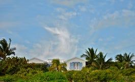 Casa de playa de la isla del puerto Imagen de archivo libre de regalías