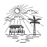 Casa de playa del vector libre illustration