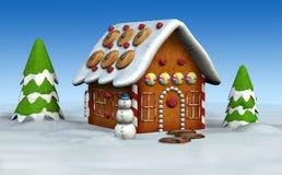 Casa de pão-de-espécie Fotos de Stock
