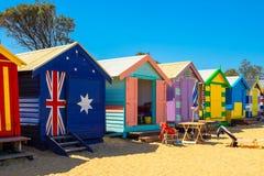 Casa de praia em Brighton Beach Fotos de Stock Royalty Free