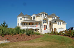Casa de praia luxuosa Fotografia de Stock Royalty Free