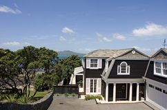 Casa de praia luxuosa Imagem de Stock Royalty Free