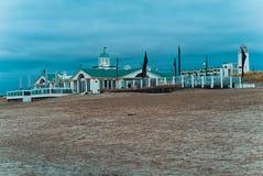 Casa de praia na praia de Noordwijk Imagem de Stock Royalty Free