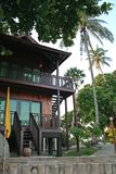 Casa de praia tropical Imagem de Stock Royalty Free