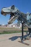 A casa de processa, o T-Rex o mais completo descoberto nunca imagem de stock royalty free