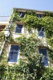 Casa de Provence coberta pela hera imagem de stock