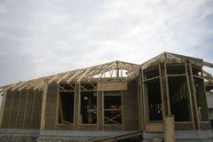 Casa de quadro feita da palha Imagem de Stock