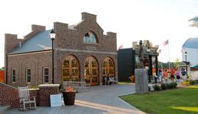 Casa de quartel dos bombeiros no parque da descoberta de América fotografia de stock