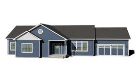 Casa de rancho - azul libre illustration