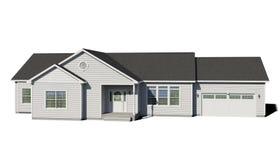 Casa de rancho - blanco ilustración del vector