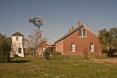 Casa de rancho del oeste vieja Fotografía de archivo