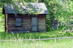 Casa de registro nas madeiras Foto de Stock Royalty Free