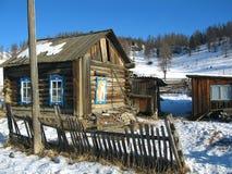 Casa de registro velha. Fotos de Stock