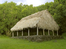 Casa de reunión cubierta con paja Imagen de archivo libre de regalías