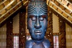 Casa de reunión maorí - Marae Imagenes de archivo