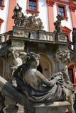 Casa de señorío barroca en Praga imagen de archivo